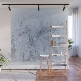 First Snow Fall Fresh Snow on Trees Nature Photography ~ Winter Hush Wall Mural