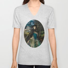 """""""Mystery woman in the forest among flowers"""" Unisex V-Neck"""