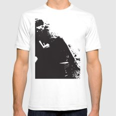 Alone…. SMALL Mens Fitted Tee White