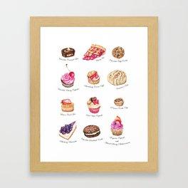 Cakes & Pastries #2 Framed Art Print