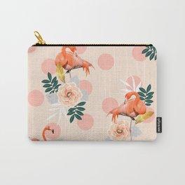 Flamingo Jazz #society6 #decor #pattern Carry-All Pouch