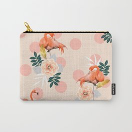 Flamingo Jazz #society6 #decor #pattern Carry-All Pouch