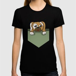 Dog lover pocket animal, boy, cool, cute, dog, friend, funny, geek, happy, home, lovable, paws, pet T-shirt