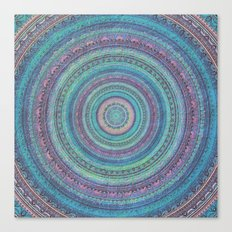 Pink and Turquoise Fractal Mandala Canvas Print