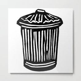 Trash Can Metal Print