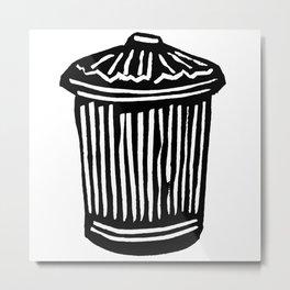 Trash Can Metal Print