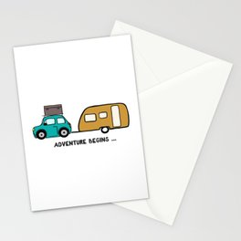 Adventure begins Stationery Cards