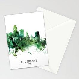 Des Moines Iowa Skyline Stationery Cards