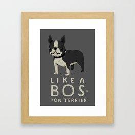 like a bos-ton terrier Framed Art Print