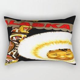 Alaska Totem Pole Travel Rectangular Pillow