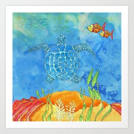 Secret Turtle Art Print