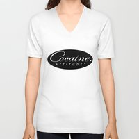 cocaine V-neck T-shirts featuring Cocaine Attitude by Trash Apparel