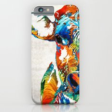Colorful Cow Art - Mootown - By Sharon Cummings Slim Case iPhone 6