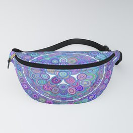 Colorful Happy Floral Mandala Fanny Pack