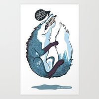 fierce Art Prints featuring Fierce by Carlos Anguis