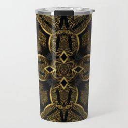 Gold Knight Medieval Geometric Pattern Travel Mug