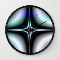 saturn Wall Clocks featuring Saturn by Robin Curtiss