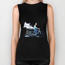 bird man bike Biker Tank