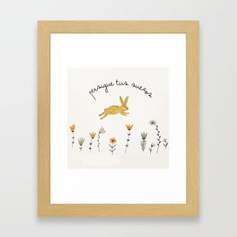 bunny dreams Framed Art Print