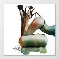 heels Canvas Prints featuring Heels by April Gann
