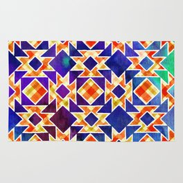 Multicolor Pattern, Including: Cerulein, Electric Violet, Mountain Meadow, Persian Blue + See Below Rug