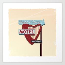 Heart O' Town Motel Art Print