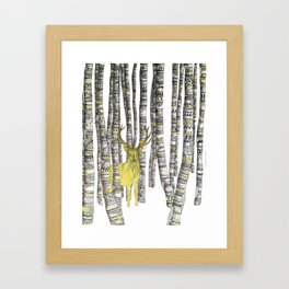 The Golden Stag Framed Art Print