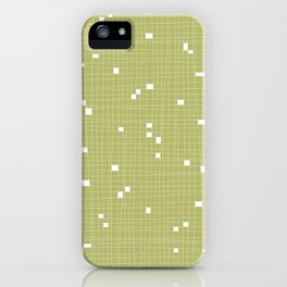 Light Green and White Grid - Missing Pieces iPhone Case