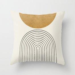 Arch Balance Gold Throw Pillow