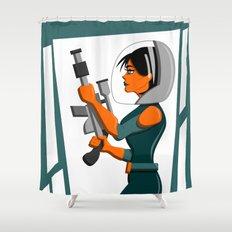 Spacewoman Shower Curtain