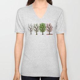 Four Seasons of Trees Unisex V-Neck