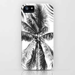 South Pacific palms II - bw iPhone Case