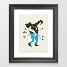 Dust Bowl Banker Framed Art Print