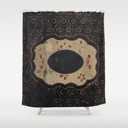 Vintage Japanese lacquer box pattern Shower Curtain