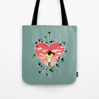 butterflies Tote Bags featuring Butterflies by Freeminds