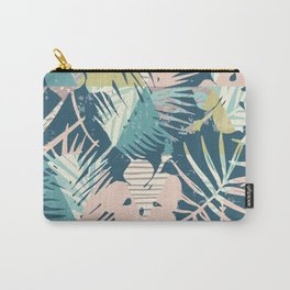 Floral Geometric Pattern Carry-All Pouch
