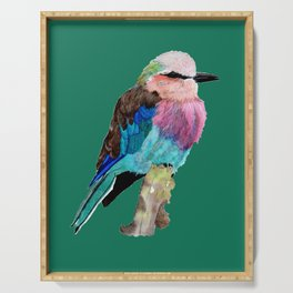 Lilac Breasted Roller Bird Serving Tray