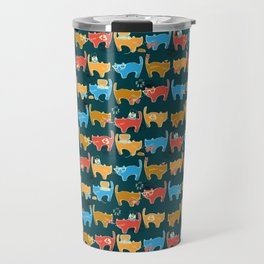 Geek Chic Cats {Nerds, Cameras, Computers, Bow Ties & Glasses} Travel Mug
