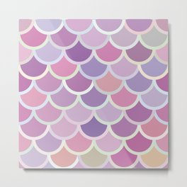 Purple Mermaid Pattern Metal Print