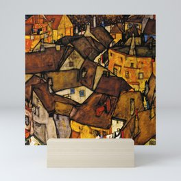 "Egon Schiele ""Krumau - Crescent of Houses (The small City V)"" Mini Art Print"