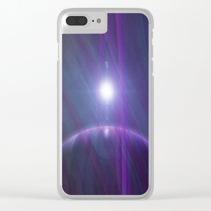 A world away Clear iPhone Case