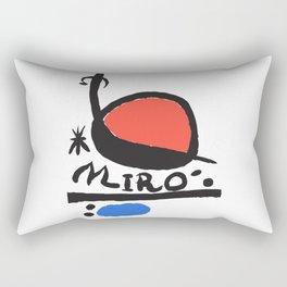 Joan Miró - L oiseau Solaire 1983 - Artwork for Prints Posters Tshirts Bags Women Men Kids Rectangular Pillow