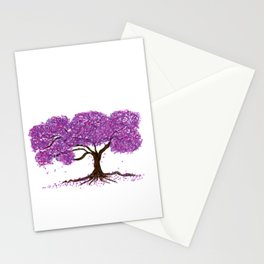 Purple Nature Stationery Cards