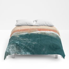 Tropical Drone Beach Photography Comforters
