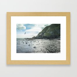 Irish bay Framed Art Print