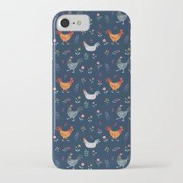 Little Hens (blue) iPhone Case