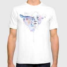 water show MEDIUM Mens Fitted Tee White
