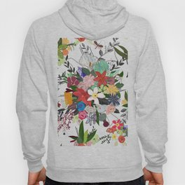 Colorful Mix Flower Bouquet Pattern Hoody