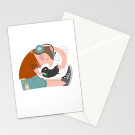 Happy gamer Stationery Cards