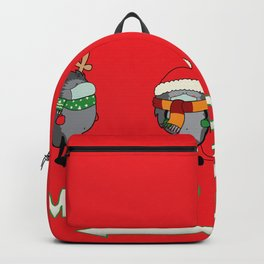 Christmas hedgehogs 2020. Backpack